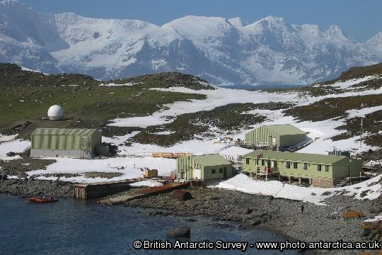 Signy Research Station, Latitude 60�43' S, Longitude 45�36' W, Factory Cove, Borge Bay, Signy Island, South Orkney Islands. This image is associated with the 2005-2010 BAS science programme: DISCOVERY 2010- Integrating Southern Ocean Ecosystems into the Earth System