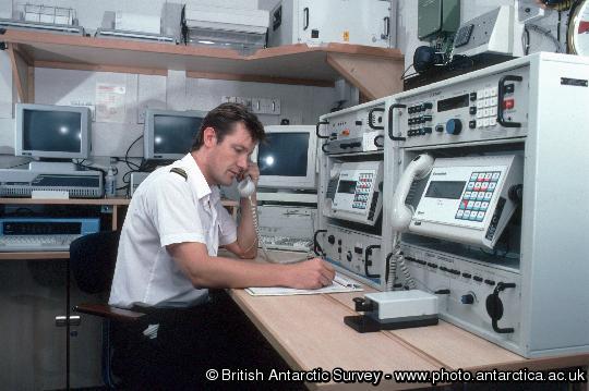 Radio operator on the James Clark Ross