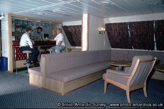 The bar onboard  RRS James Clark Ross