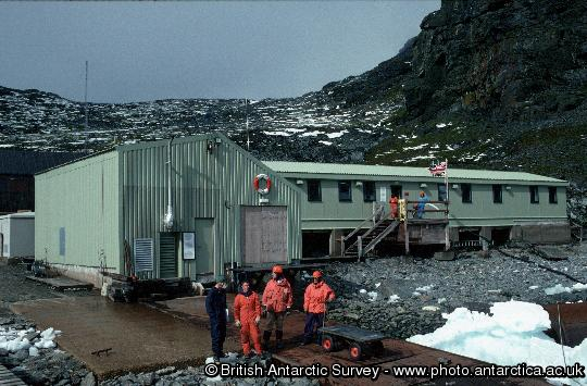 Signy Research Station - South Orkney Islands.  The buildings shown here were completed in 1997/98.