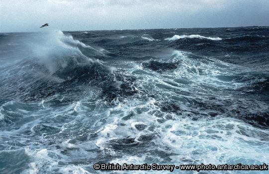 Rough seas of the Southern ocean
