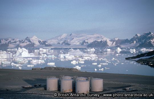 The fuel store at Rothera