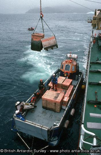 Tula  (landing craft) being loaded alongside RRS Ernest Shackleton during relief at Bird Island  The cargo tender Tula  is named after the ship used by John Biscoe during his British Expedition of 1830- 1833. The Enderby Brothers sent out two ships, Tula  and Lively  (Captained by George Avery), who circumnavigated the Antarctic continent.