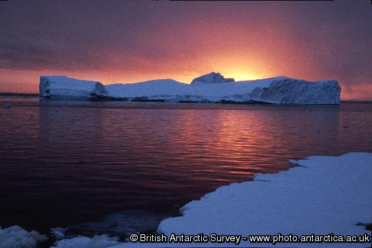 Sunset viewed from near Rothera Station