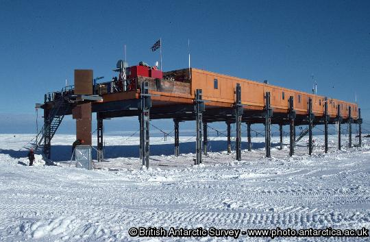 Laws building (ACB), the main accommadation building at Halley research station