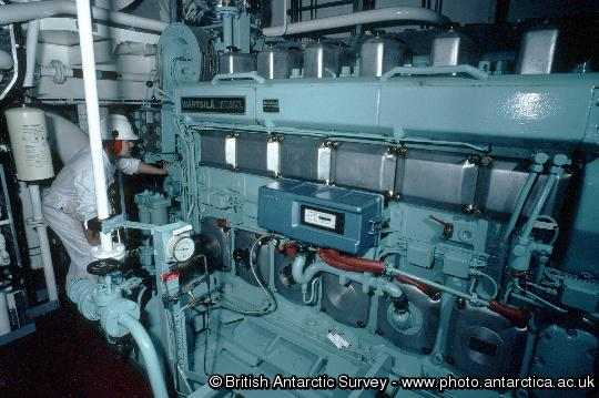 One of the main engines of RRS James Clark Ross