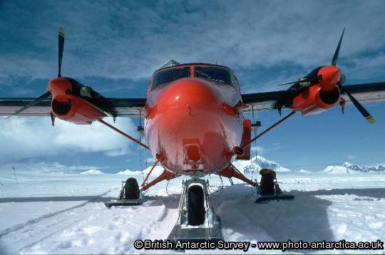 British Antarctic Survey twin otter aircraft