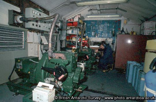 Generator shed at Bird Island, South Georgia