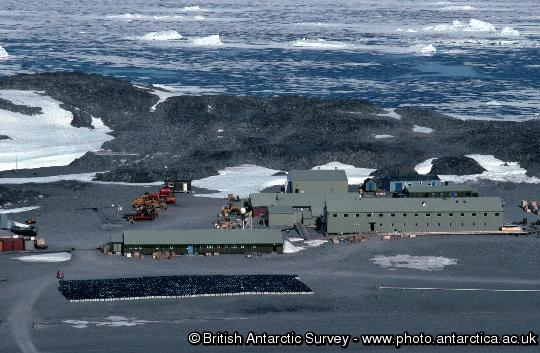The buildings of Rothera Research Station