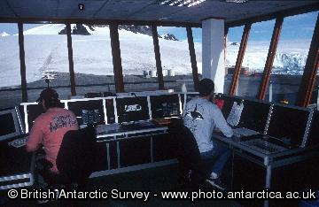 Air operations control tower at Rothera Research Station