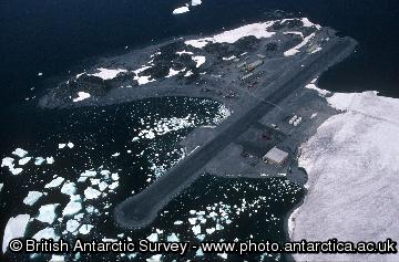 Aerial view of Rothera Research Station
