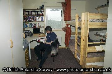 Accommodation at Rothera Research Station.
