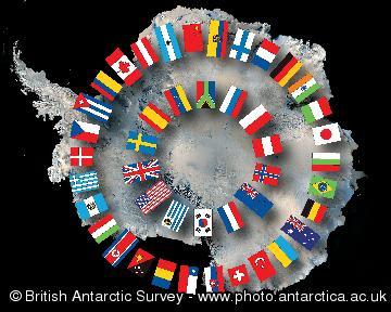 Antarctic Treaty flags of nations