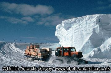 Waste materials, being transported by Sno-cat