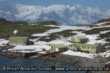 Signy Research Station, Latitude 60�43' S, Longitude 45�36' W, Factory Cove, Borge Bay, Signy Island, South Orkney Islands.