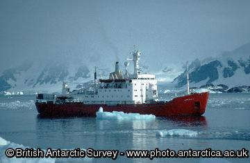 RRS Bransfield at Rothera research station