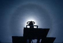 Sun Halo around the sunshine recorder at Halley Research Station