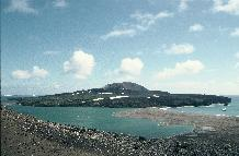 View towards the Volcano 'Lucifers Hill' on Candlemas Island in the  South Sandwich Islands chain