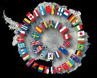 Antarctic Treaty flags of nations  *** SEE 10010686 FOR UPDATED VERSION ***