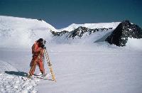 Surveying for glacier movement on Rutford ice stream